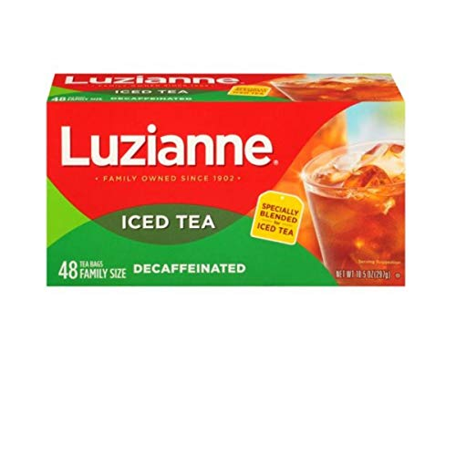 Luzianne Decaffeinated Family Size Iced Tea Bags 48 ct. Box (Pack of 1) from Luzianne