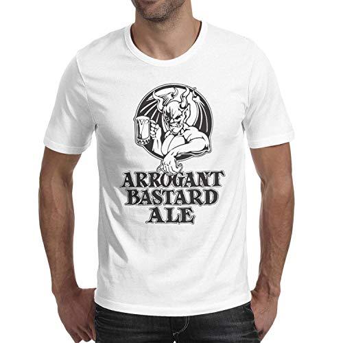 Adult Short Sleeve Design Tops Men's Arrogant-Bastard-Ale-from-Stone-Brewing-Beer- Shirts tee