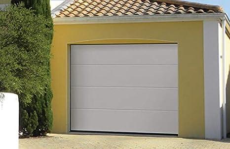 Clausa Puerta de Garaje motorisable, Acero, Blanco, 10 x 240 ...