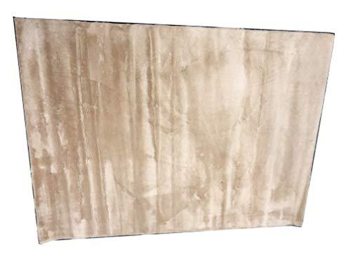 (Elegance Collection Super Soft Plush Rug Area Rug Beautiful Home Decor Rug (5X7, Beige) )