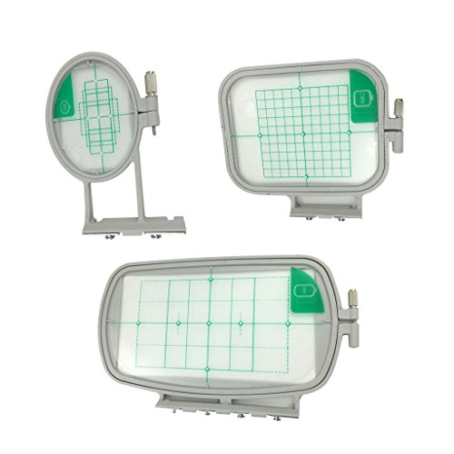 Flameer 3pcs Embroidery Hoops Frame For Brother Embroidery Machine SE350 SE400 HE240 by Flameer