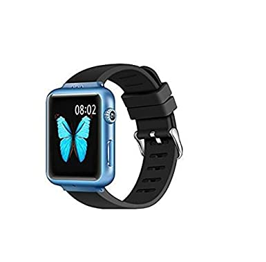 e7ade20874aa9 MLIUS 3G Smart Watch K8 Android 4.4 Smartwatch 1.54 Inch Bluetooth GSM WiFi  GPS GSM BT FM Camera Pedometer for Smart Phones (Blue)  Amazon.co.uk  ...
