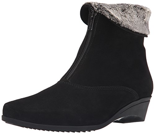 La Canadienne Suede Wedges - La Canadienne Women's Evitta Boot,Black,10 M