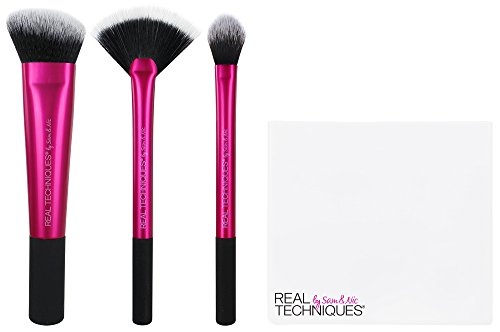 Real Techniques Cruelty Free Sculpting Brush With Ultra Plush Custom Cut Synthetic Bristles and Extended Aluminum Ferrules to Build Coverage
