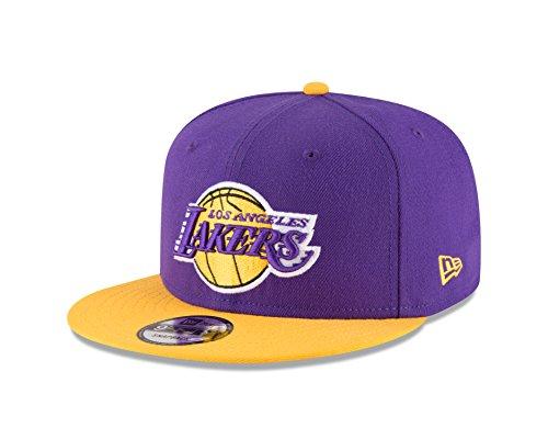 NBA Los Angeles Lakers Adult Men NBA 9Fifty 2Tone Snapback Cap,OSFA,Purple