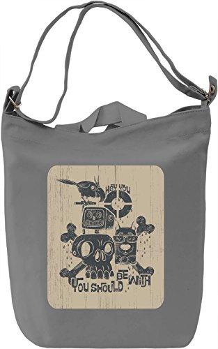Bony Borsa Giornaliera Canvas Canvas Day Bag| 100% Premium Cotton Canvas| DTG Printing|