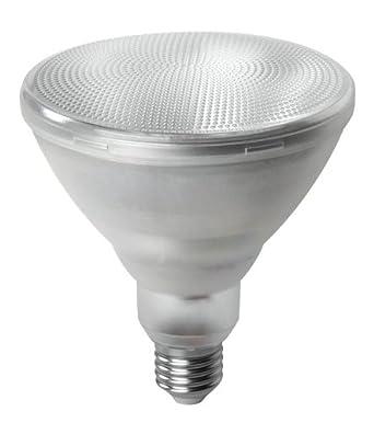 Megaman - Bombilla LED de bajo consumo (casquillo PAR38, 15,5 W, 2800 k), luz blanca cálida, color plateado: Amazon.es: Iluminación