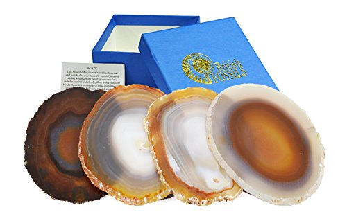 Set of 4 Natural Agate Coasters