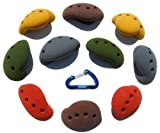 10 Large Simple Screw-on Jugs   Climbing Holds   Mixed Earth Tones