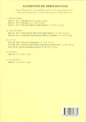 Elementos de Derecho Civil: T.II. Volumen I. Derecho de ...