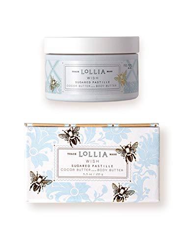 Lollia Wish Whipped Body Butter Margot Elena s Sugared Pastille Body Cream, 5.5 oz