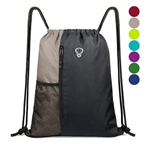 BeeGreen Sport-Bag-Backpack-Drawstring-for -Men&Women Gym Backpack with Water Bottle Mesh ()