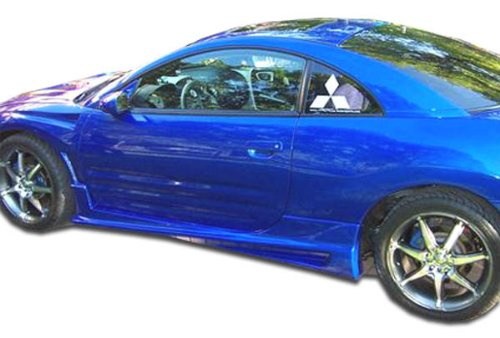 Duraflex ED-NXF-535 Bomber Side Skirts Rocker Panels - 2 Piece Body Kit - Compatible For Mitsubishi Eclipse 2000-2005