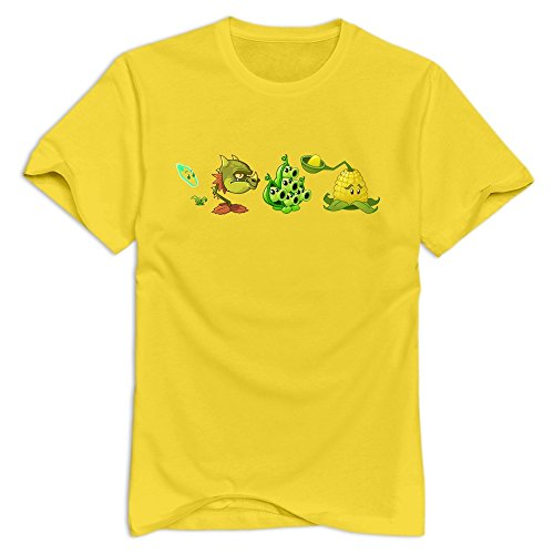 Ex Boyfriend Crop (Plants Vs Zombies 2 Crop Plant 100% Cotton T-shirt For Men Yellow XL New Arrival T)