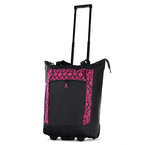 Olympia Rolling Shopper Tote, Pink, One Size