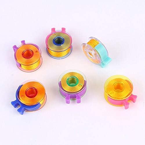 Pack Caja de Bobina de Costura Clips peque/ños Herramienta de Costura Accesorio Herramienta de Soporte de Clips de Hilo de Color Cloverclover 48pcs