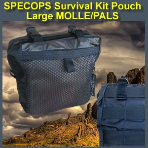 SPECOPS Survival Kit Pouch with MOLLE / PALS Webbing, Tactical & Military