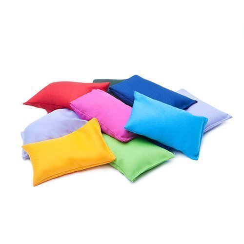 Assorted Colours Water Resistant Fabric Garden Game Sports PE Sensory Juggling Bean Bags 8 Pack