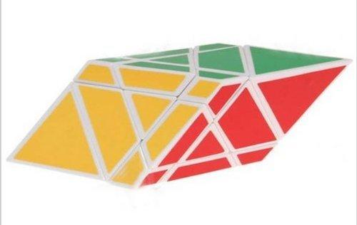 Diansheng Moren Rhomboid Shape Mode Cube Puzzle White