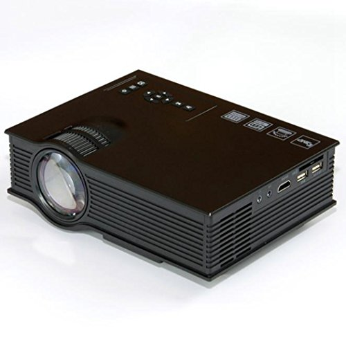 COOKI UC40+ Pro 1080P LED 800:1 Manual Focus Home Theater Cinema Game Projector HD HDMI VGA USB With Speaker