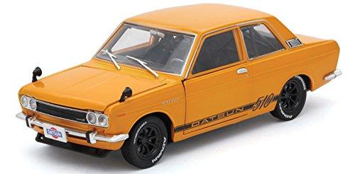 M2 Machines 1970 Datsun 510 Bronze Yellow Auto-Japan 1/24 Diecast Model Car by - 510 Model Datsun