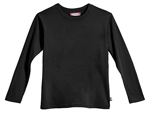 City Threads Little Boys' Cotton Long Sleeve Tee Base Layer For Fall Winter School or Play - Sensitive Skins or SPD Sensory Friendly Kids Clothing , Black, 5