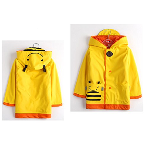 Zoo series Childrens Warm Raincoat Thickened Hooded Windproof Raincoat for Kids Toddler Boys Girls Poncho