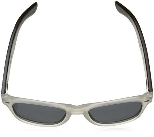 Ocean Sunglasses Beach Lunettes de soleil White Transparent Frame/Wood Dark Arms/Smoke Lens ZVZZP