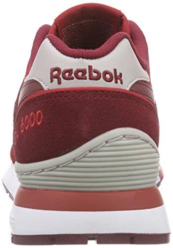 Reebok Gl 6000 Athletic, Zapatillas de Deporte para Niños Rojo / Gris / Blanco (Power Red / Collegiate Burgundy / Steel / Whit)