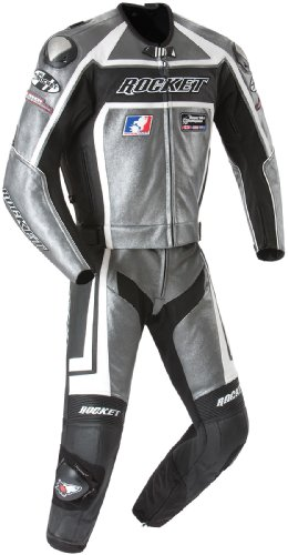 Joe Rocket Speedmaster 5.0 Men's Leather 2-Piece Motorcycle Race Suit (Gun Metal/Black, Size (Joe Rocket Speedmaster Leather)