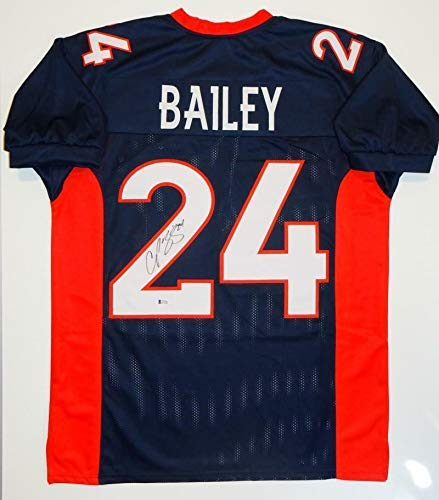 Champ Bailey Autographed Signed Memorabilia Broncos Blue Jersey Aaa 12X Pro Bowl Cornerback 2000-2012 - Certified Authentic