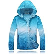 Geek Lighting Unisex Anti UV Lightweight Quick Dry Ultra Thin colorful Skin Windbreaker Breathable Hooded Jackets
