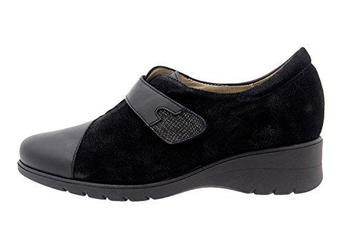 Amples 9952 Confortables Piesanto Chaussure Scratch En Confort Noir Femme Cuir Casual qnzwU7a