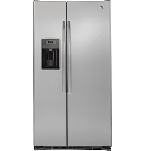 Ge - 21.9 Cu. Ft. Side-by-side Counter-depth Refrigerator -