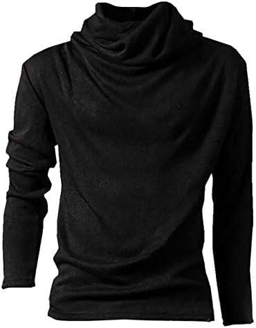 【ノーブランド品】タートルネック 長袖 メンズ カットソー シャツ インナー 無地 カラーバリエーション6色 (M, ブラック)