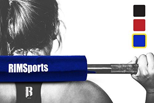 RIMSports Performance Olympic Barbell Pad Ideal Squat Pad for Weight Bar, Barbell Squat Sponge for Squats -Barbell Bar Pad for Thrusts Squats Lunges -Foam Pad for Barbell, Squat Bar Cushion (Blue)