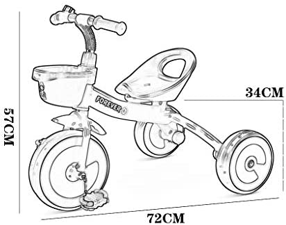 xy Triciclos Triciclo Al Aire Libre En Bicicleta Bebé Portátil ...