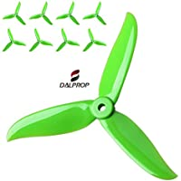 DALPROP T5045C Green, Cyclone Series Extreme Performance FPV Racing Propellers, The Cyclone Series has Incresed Performance Through Advanced Tip Design. 4XCW and 4XCCW, 8 Propellers.