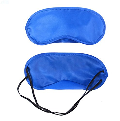 DMtse 10 X Colorful Soft Sleep Eye Mask Night Sleeping Shade Cover Blindfold Car Train Travel Eyeshade