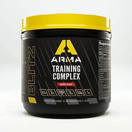 ARMA Blitz Training Complex Pre Workout Powder Berry Blast Pre-Workout Drink Mix for Men and Women Energy Boost Dietary Supplement Ideal for Pre, During, Post Workout