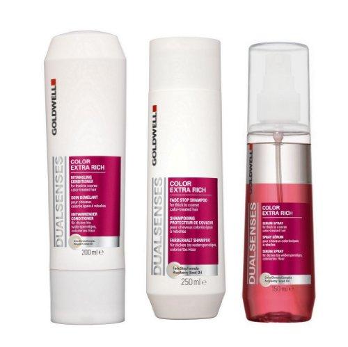 Goldwell Dualsenses Color Extra Rich Set (Shampoo 250ml + Conditioner 200ml + Spray 150ml)