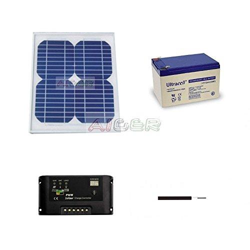 Kit fotovoltaico de 10 W a 12 V