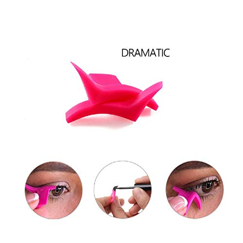 Lucktao Lazy Eye Shadow Applicator Silicon wing eyeliner Eyeshadow Stamp Crease (DRAMATIC)