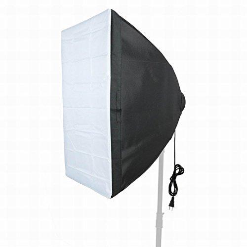 FemiaD Set Photography Equipment Kit 50cmx70cm Softbox with Four Lamp Bulb Holder 2Terminal US Plug
