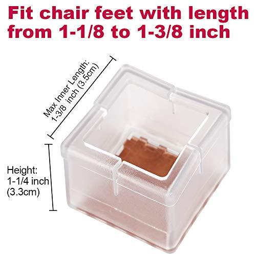 Buy square table leg caps
