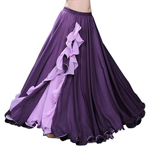 ROYAL SMEELA Women's Belly Dance Chiffon Skirt
