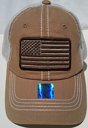 Honor Country USA American Flag Baseball Cap Black - Beige