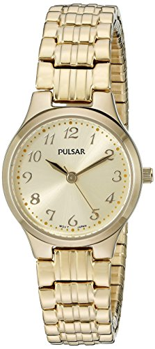 Pulsar Women's PG2034 Expansion Analog Display Japanese Quartz Gold Watch