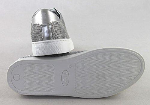 9252087p597 para Zapatillas Mujer plata Armani 0qBTzxz