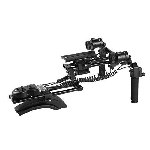Movo MFF400 Premium Motorized Follow Focus and Zoom Control Video Shoulder Rig for HD DSLR Cameras by Movo
